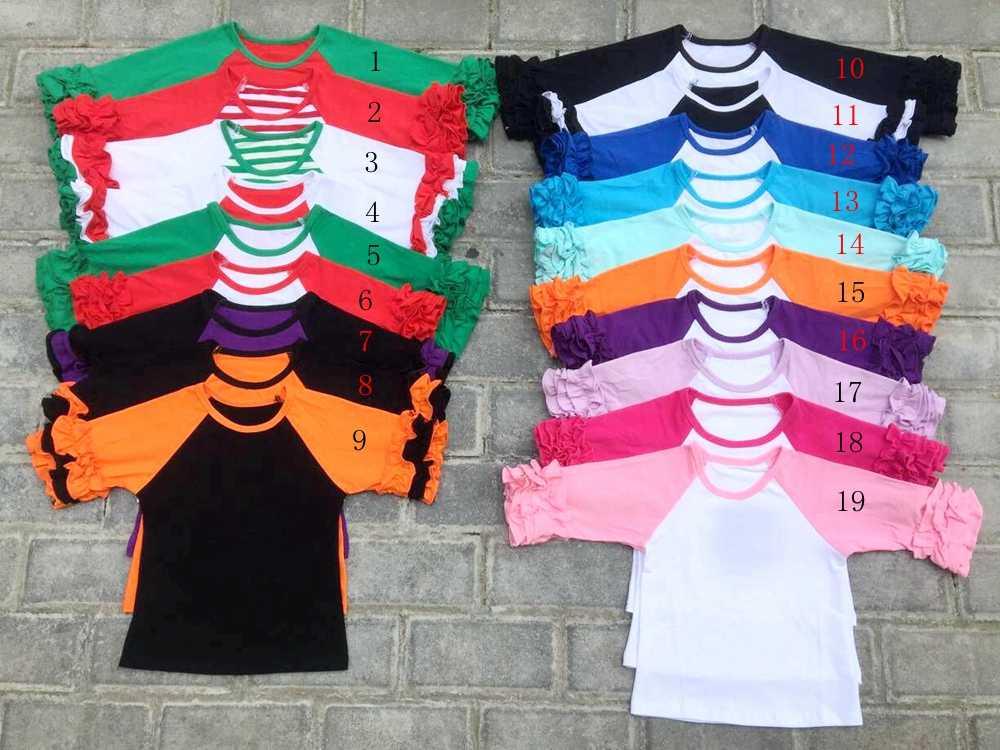 cc2f38b95c8a discount Kids Christmas Shirts children Ruffles Raglan t shirts girl s  raglan tops kids girl baseball t