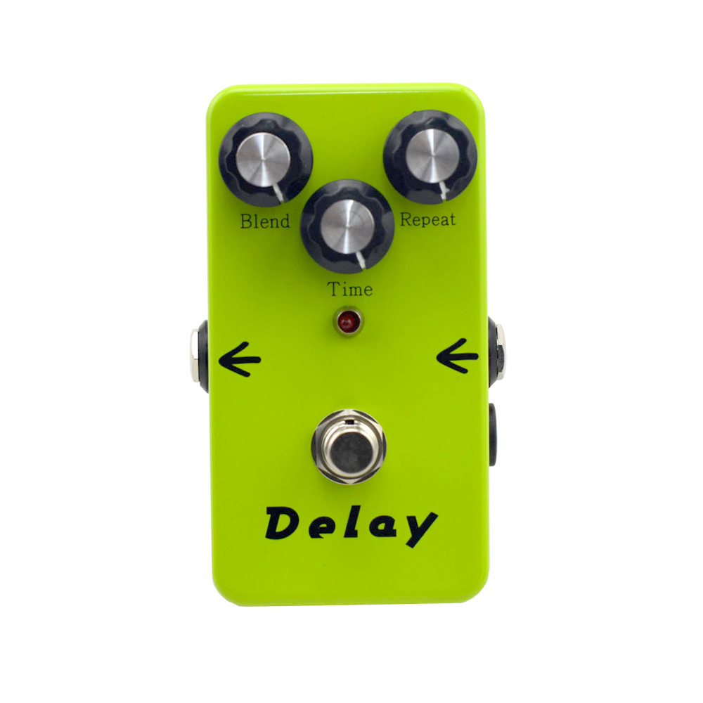 Analog Delay Effects Electric Guitar Effects Pedal delay 440ms Guitar Tuner Accessories Instrument  Musical 12pcs guitar tuner tunes muffler guitar accessories wood color