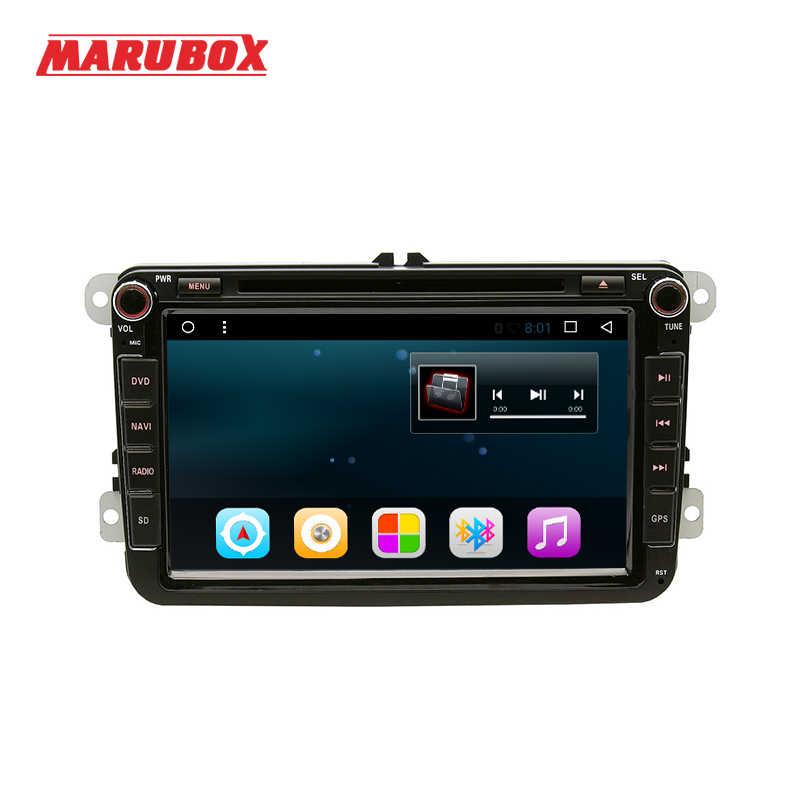 MARUBOX 2Din アンドロイド 8 フォルクスワーゲンパサート B6 ポロゴルフ 5 シュコダオクタ Gps ナビ DVD ステレオラジオカーマルチメディアプレーヤー