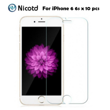 10Pcs/Lot Nicotd 2.5D HD Clear Tempered Glass For Apple iPhone 6 4.7″ Toughened Screen Protector Protective Film For iPhone 6s