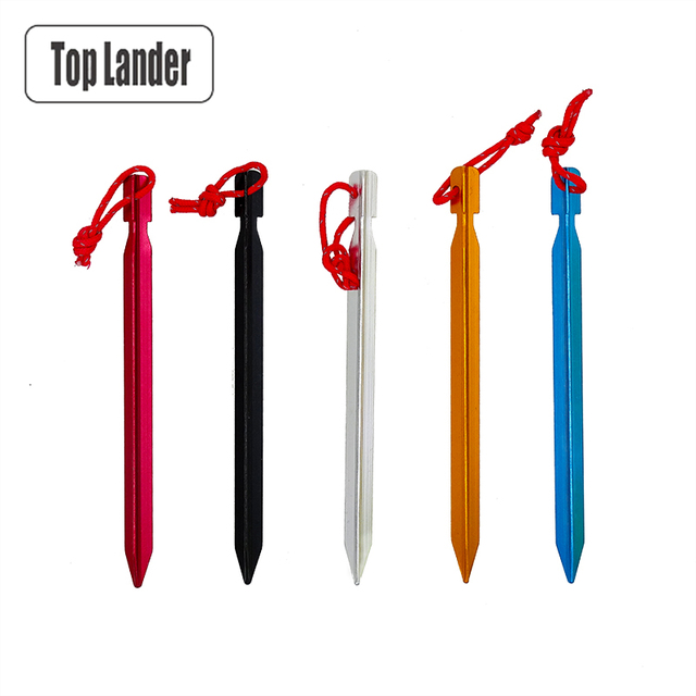 18 cm Tent Pegs Aluminum Tent Stakes Nail For Camping Tent Rope Ultralight Tent Accessories 2