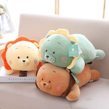 hot deal buy nooer cute cartoon lion stuffed plush toys soft stuffed animals doll kawaii lion pillow kids baby appease doll girls gift
