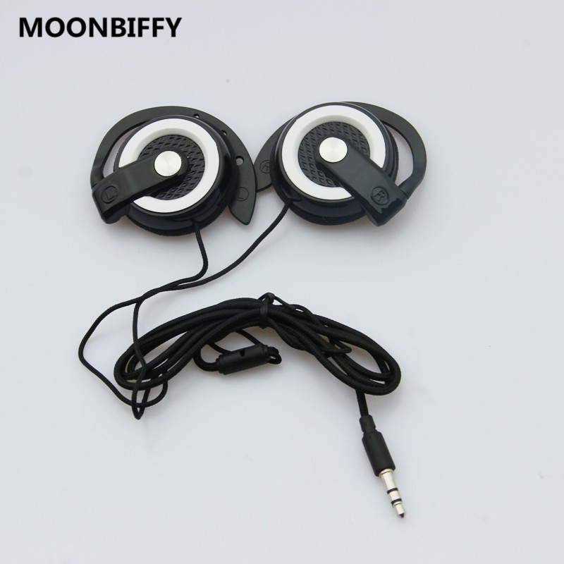 MOONBIFFY New Arrival Bass Hook Earphone 3.5 Over ear Sports Earphones Headset for iPhone Samsung Huawei Xiaomi Lenovo MP3 fone