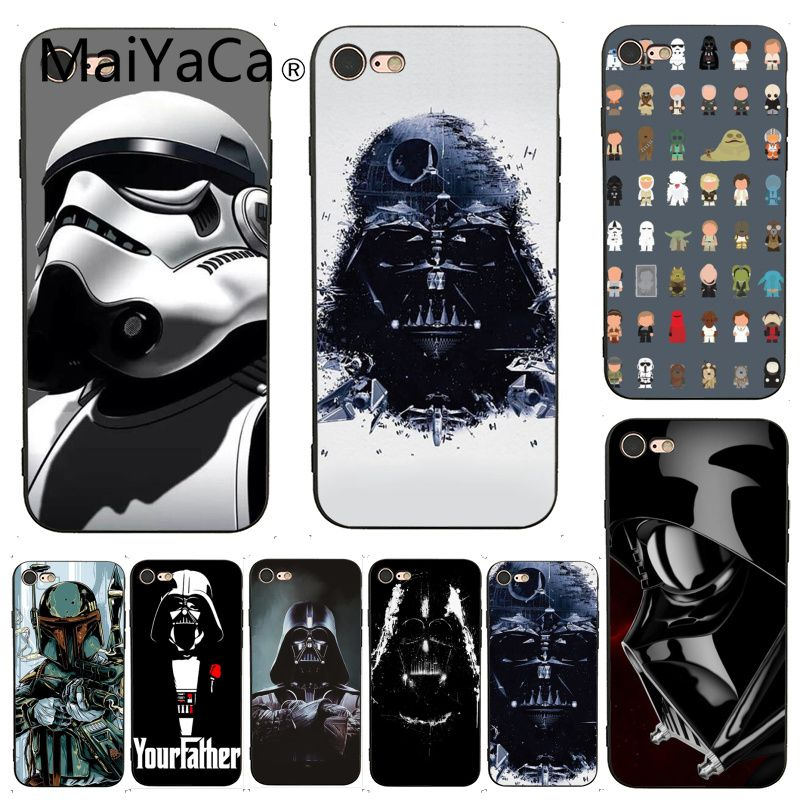 MaiYaCa For iphone 7 Case STAR WARS COMIC DARTH VADER YODA Darth VadeR Phone Case for iPhone X 6 7 6s 7plus 8 8Plus XS XR 5C SE image
