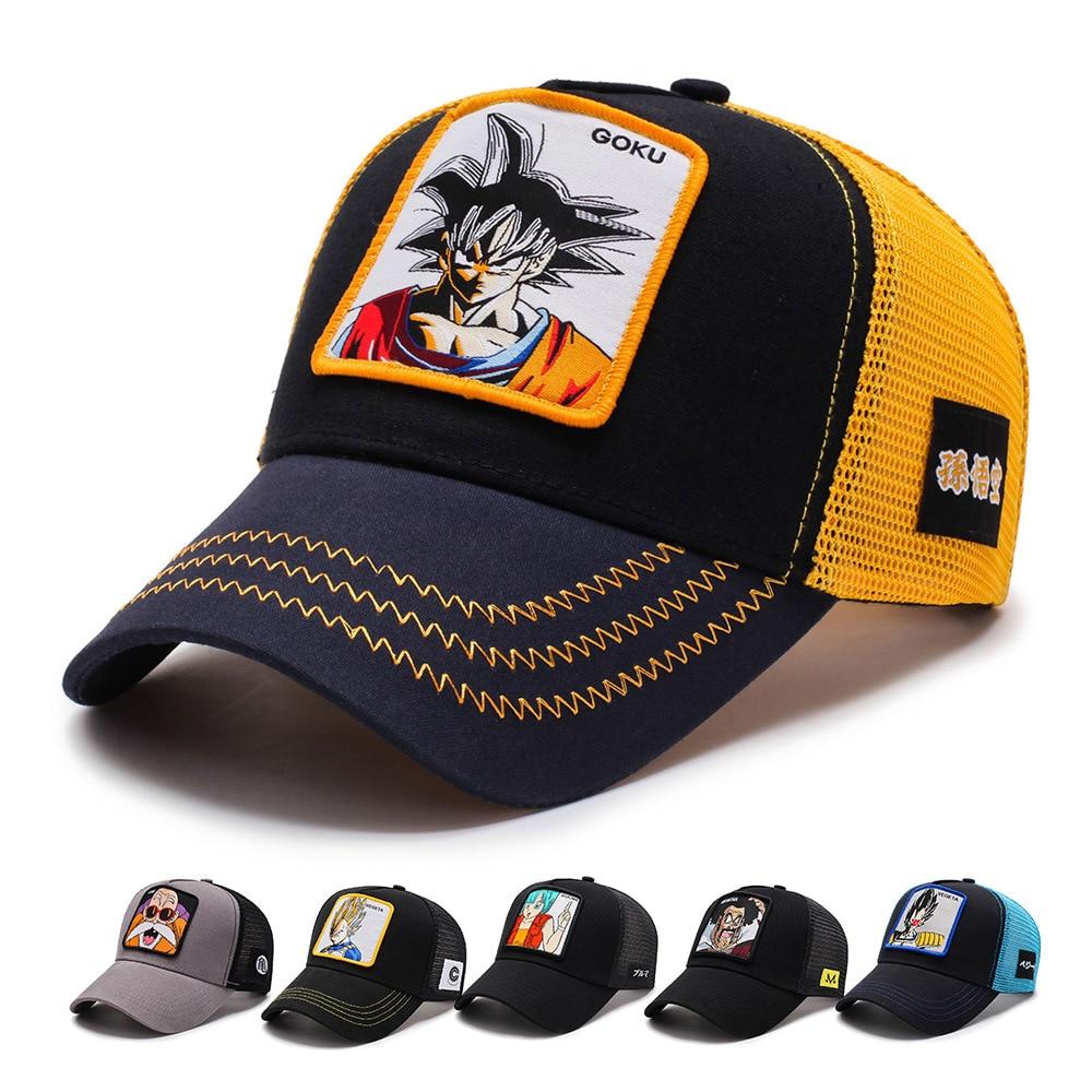 2019New Fashion Dragon Ball Baseball Caps Men Breathable Mesh Snapback Caps Sun Hat For Women Bone Casquette Hip Hop Cap Dad Hat