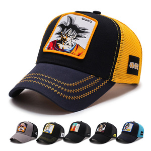 Image 1 - 2019Newファッションドラゴンボール野球キャップ男性通気性メッシュスナップバックキャップ太陽の帽子骨キャスケットヒップホップキャップお父さん帽子