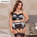 Female Erotic Costumes Underwear Women Sex Wear Women Sexy Lingerie Set Plus Size with Garter Thong M XL XXXL XXXXXL 3XL 5XL