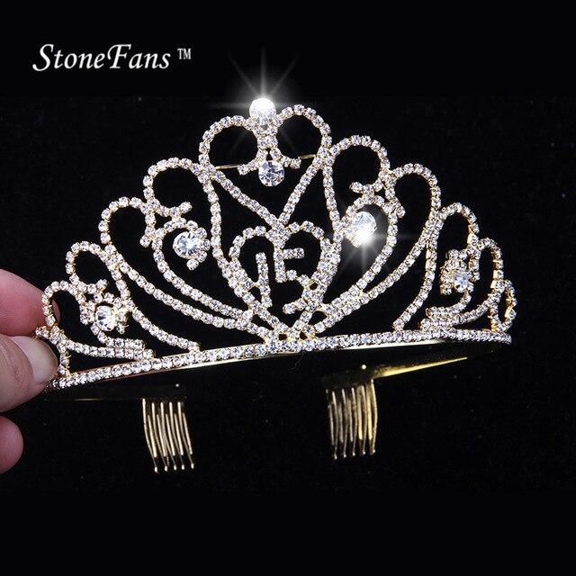 StoneFans Tiaras And Crowns Birthday 15 Years Party Supplies New Tiara Head  Piece Crystal Head Women Girls Rhinestone Accessory 3df901348167