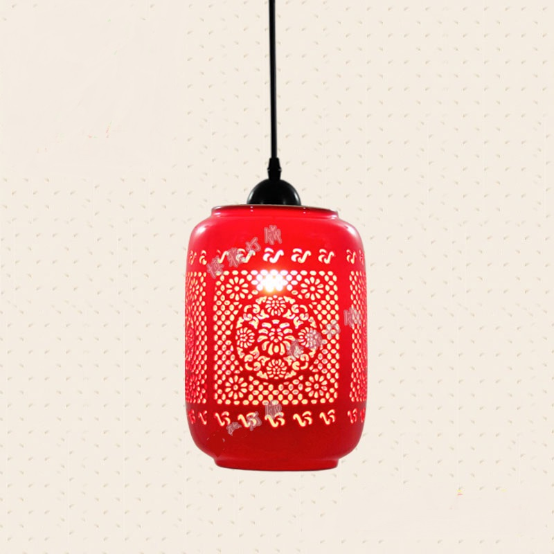 FERR SHIPPING EMS 3PCS Balcony pendant light multithread chinese style ceramic lamp small pendant light