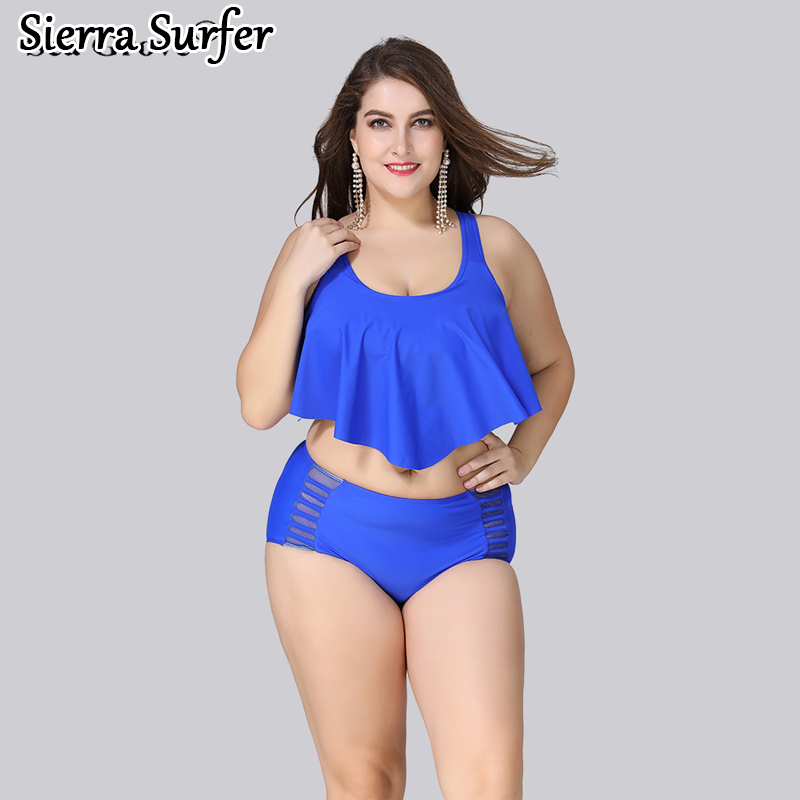 Plus Size Swimwear Large Size Large Women Swimsuit Swimwear For Fat Women Vintage High Waisted New Fat Xl High Waist Pants Pure 2017 jeans for women new thin slim trousers pencil pants high waist small jeans plus size xl 5xl fashion vintage blue jeans