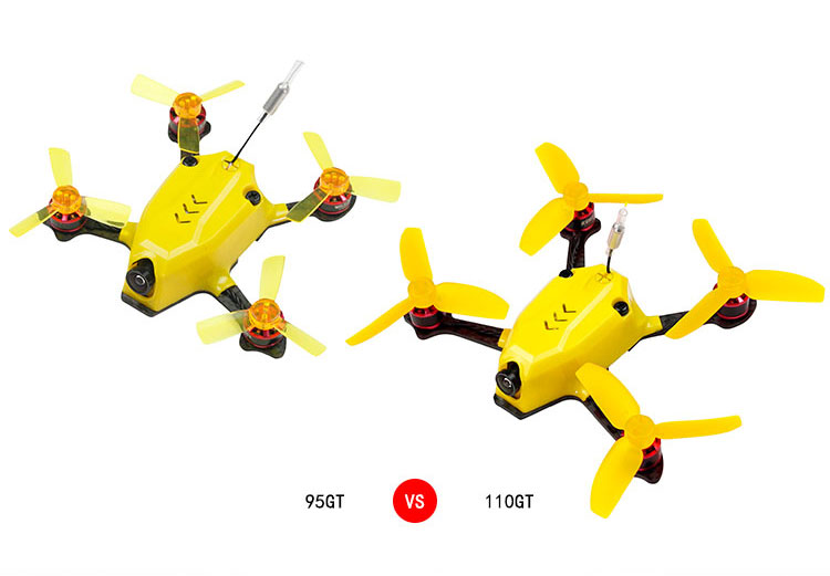 110GT PNP Mini Drone Quadcopter FPV Racer With 800TVL Camera 1105 8500KV Motor DSM2 / XM / FS-RX 2A / FM800 Receiver diy fpv mini drone qav210 zmr210 race quadcopter full carbon frame kit naze32 emax 2204ii kv2300 motor bl12a esc run with 4s