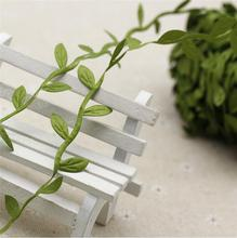 Artificial Vines Garland rattan cloth fake leaves DIY Decorative Greenery for Home Wall Garden Wed 1M