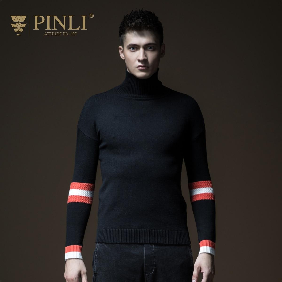 2019 hommes chandail chandail Pinli Pin Li automne hommes tricoté Crash couleur épaule bas du corps culture col roulé B183210157