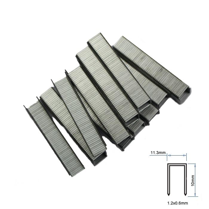 1000pc Staples Size 11.3x10mm Staples For Stapler Wood Furniture mini frog stainless steel stapler staples set blue