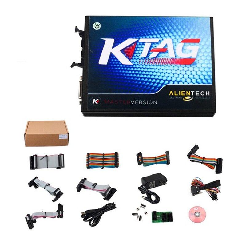 Цена за Новое Поколение KTAG Программирование ЭБУ V1.89 Инструмент и V2.06 2 в 1 KTAG К-TAG ECU Мастер Версия Без Лексем Ограничено Чип 6 языки