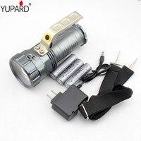 YUPARD XM-L2 T6 LED bright high power LED Latarka zoomable Reflektor Szperacz lampa + 3*2200 mAh 18650 baterii + ładowarka