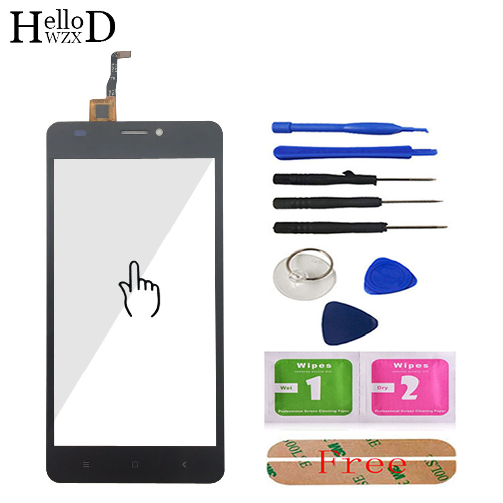 Touch Screen Front Glass For Oukitel C3 Touch Screen Glass Digitizer Panel Touchscreen Lens Sensor Mobile Flex Cable + Adhesive