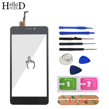 цена на Touch Screen Front Glass For Oukitel C3 Touch Screen Glass Digitizer Panel Touchscreen Lens Sensor Mobile Flex Cable + Adhesive