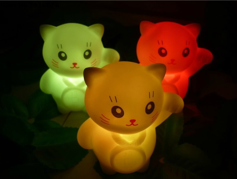 Beautiful Christmas Lucky Cat Lamps Colors Changing LED Lamp Decoration Romantic  Lucky Cat Night Light In LED Night Lights From Lights U0026 Lighting On  Aliexpress.com ...