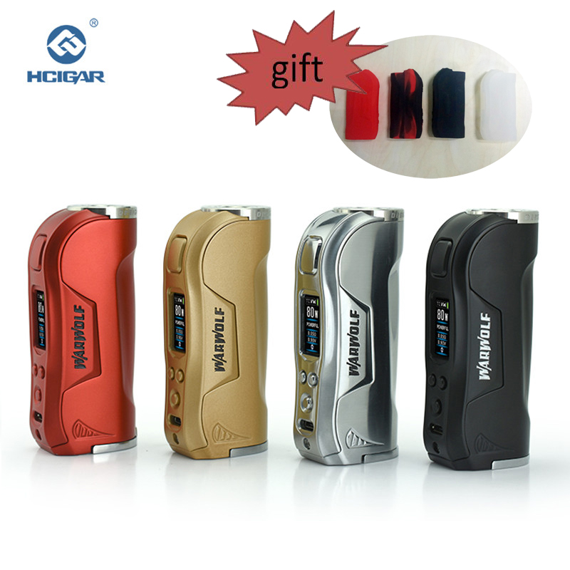 Original HCIGAR Warwolf vape Mod Output 1-80w WATT and TEMP mode Vaporizer Powered 18650 Battery Electronic cigarettes Mod box