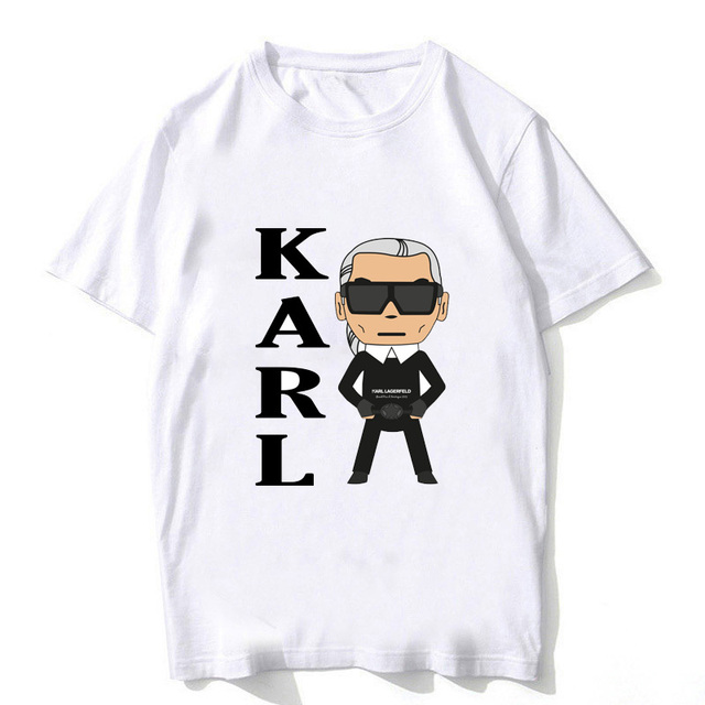 f8c4a71a8fcc Karl Lagerfeld t shirt men bts summer 2019 cat animal print Vogue Short  Sleeve Sally face t-shirt homme hip hop Geek tshirt kpop