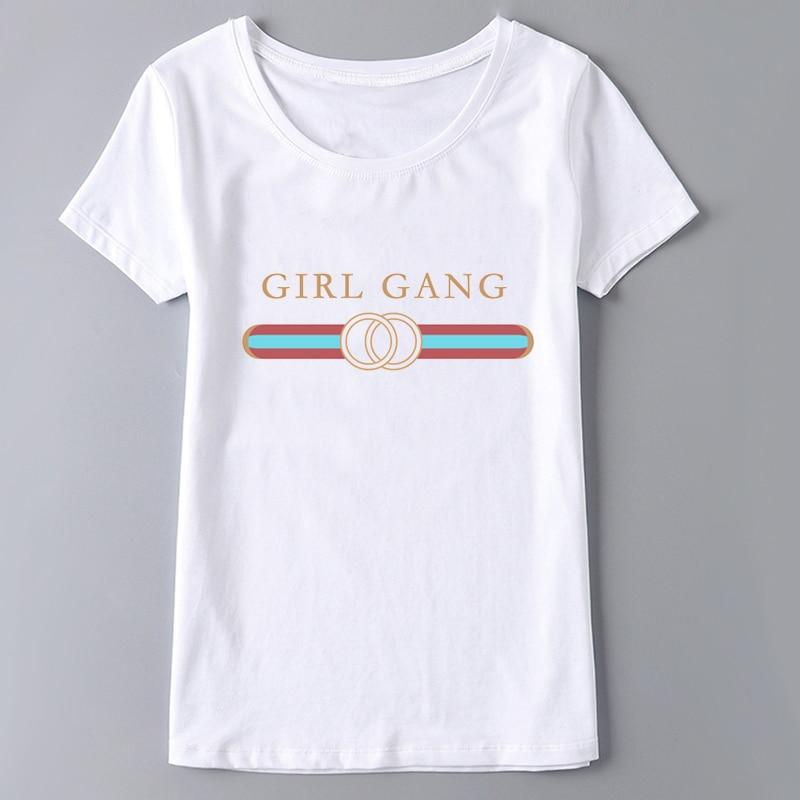 HTB1Z5XuSVXXXXbuaXXXq6xXFXXXS - Hot Sale Women T Shirt Girl Gang PTC 114