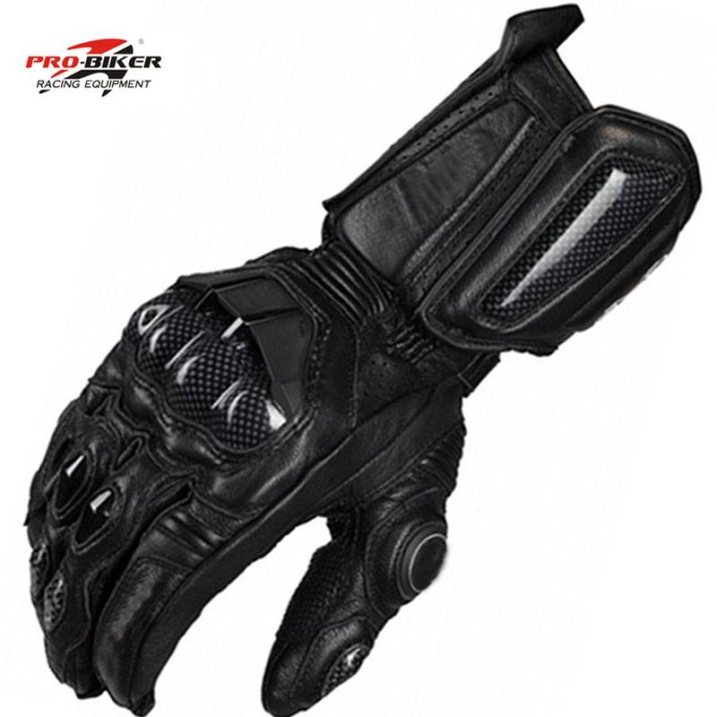 Breathable Motorcycle Protection Leather Glove Motocross Gloves MOTO GP PRO Racing Black Carbon Fibre Guantes Furygan