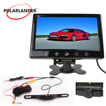 9 inch TFT Screen Car Monitor With Night Vision Long Lightless Hidden GPS Wireless  Parking Monitor LED   Rear Camera