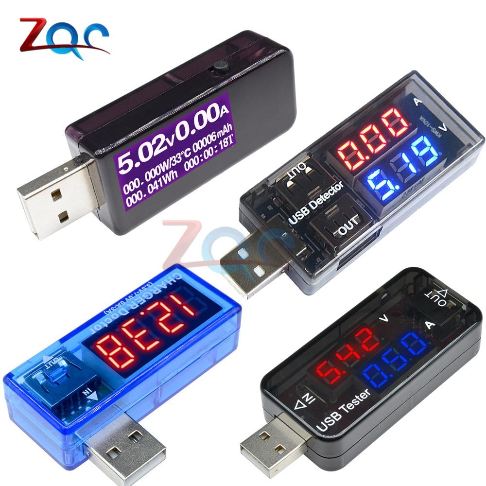 USB Digital Voltmeter Ammeter Current Voltage Meter USB Power Detector Tester Battery Energy Capacity Time Multifunction Tester
