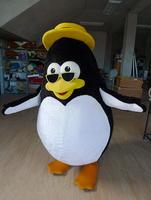 Ohlees réelle vraie image Pinguin Lunettes costume De Mascotte Costume Adulte Taille Costume De Mascotte Taille Adulte Tenue En Peluche Poupée Fantaisie Robe