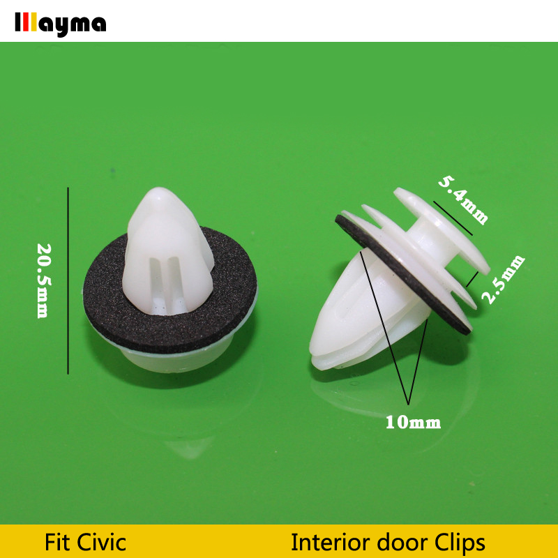 Plastics Clips For Honda Civic City FIT Odyssey Accord CRV Prelude Interior Door Card Trim Panel Clips