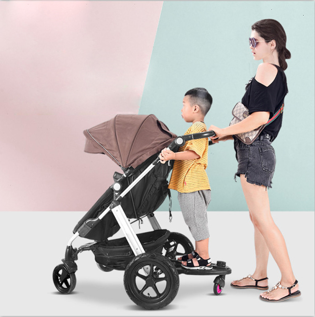 Buggy Stroller Step Board Stand Toddler Child Kids Wheeled Pushchair Connector O