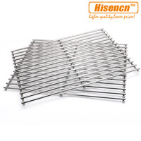 Hisencn 7521 7523 9855 set of 2 22.5'' Barbecue Parts Replacement SS Cooking Grill Grid Grate For Genesis Silver A, Spirit 500