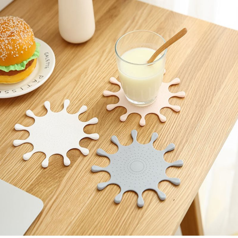 1PC Creative European Lovely Silicone Household Non slip Coasters Insulation Pad Table Placemat Anti scalding Milk Mat OK 0960 in Mats Pads from Home Garden