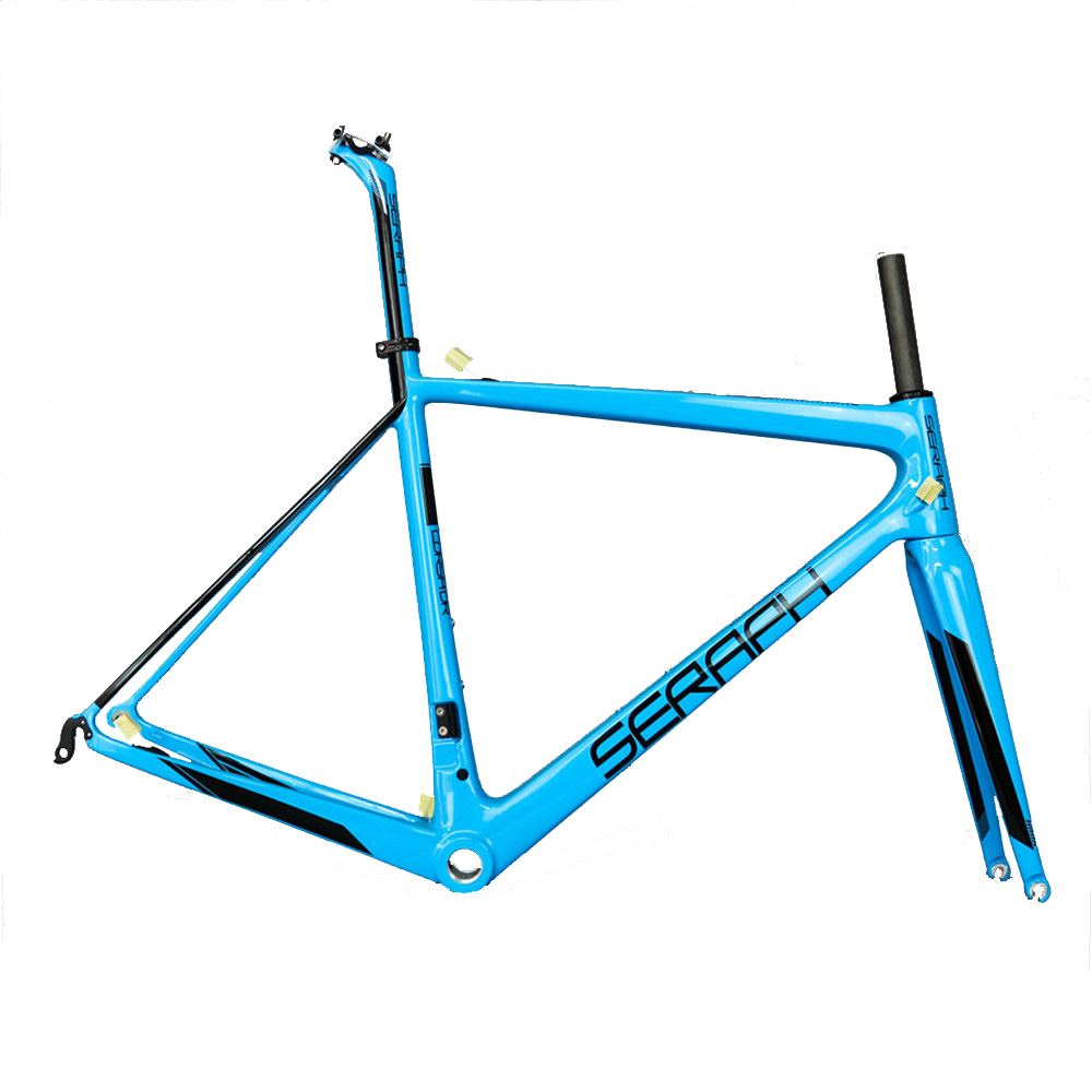 Latest Blue BSA All-carbon T800 Highway Bike Frame FM686 Accepts Custom Paint
