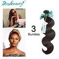 Grade 8A Free Shiping12''~24'' Natural Body weave 3 Bundles Rosa Beauty Hair Products Top Grade Virgin Brazilian Virgin Hair