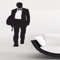 James Bond Daniel Craig 007 Movie Film Silhouette Wall Art Sticker Decal Removable Vinyl Room Decoration