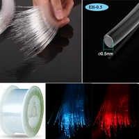 Miernik cena 0.5mm PMMA plastikowa końcówka glow sufitowa gwiazdka lekki kabel światłowodowy do oświetlenia