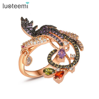 Teemi Wholesale For Women Newest Design Rose Gold Plated Big Size Women Multi Black CZ Prong