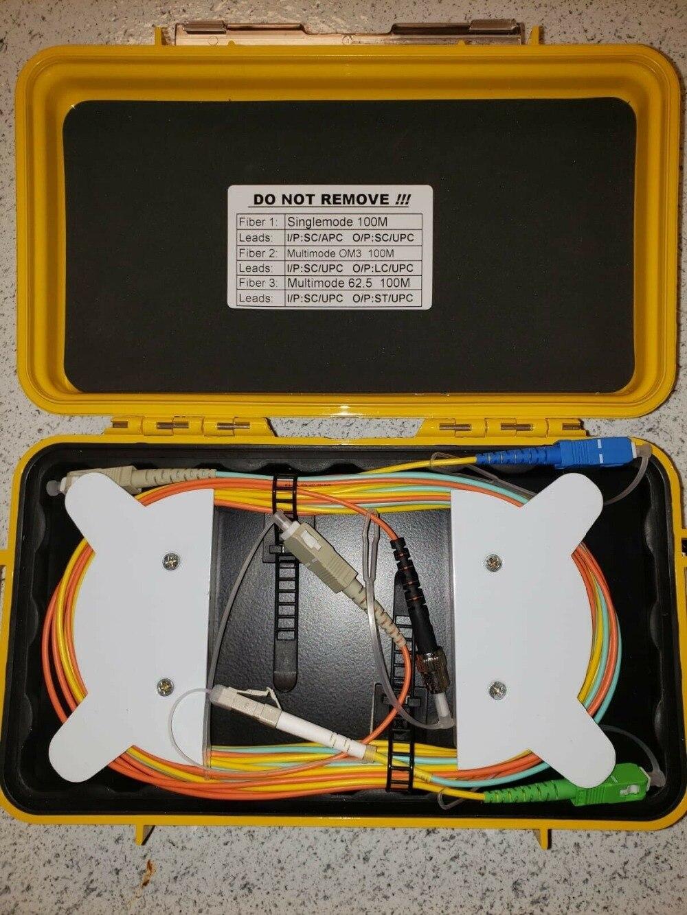 jyttek 3 in 1 SM 9/125 MM 62.5 OM3 100M Fiber Optical OTDR Launch Cable Box Fiber Rangs