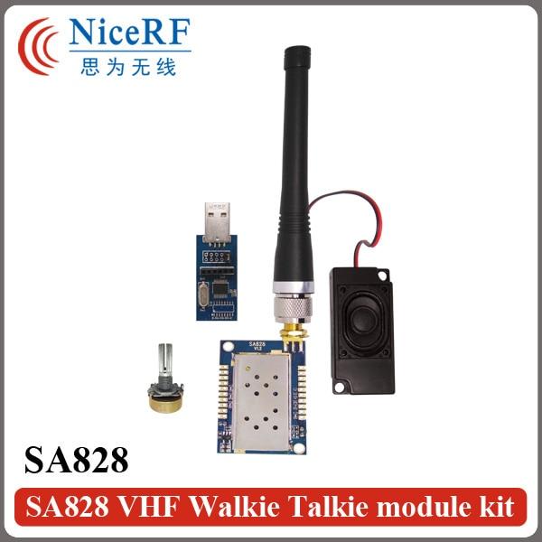2PCS SA828 1W Output Power Audio RF Transmitter And Receiver Module 134-174MHz  30dBm Walkie Talkie Module