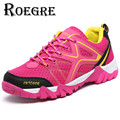 ROEGRE Plus Size 45 Spring Autumn Unisex Outdoor Shoes Breathable Mesh  Trainers Pink Grey Blue