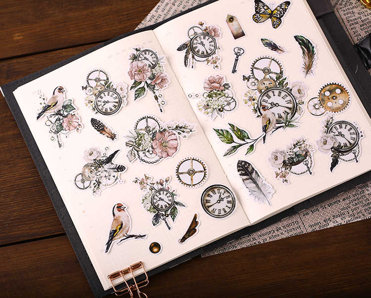 21pcs Cute Old City Flowers Kids Fun Paper Stickers Homemade Bookkeeping Decals on Laptop / Decorative scrapbooking / DIY