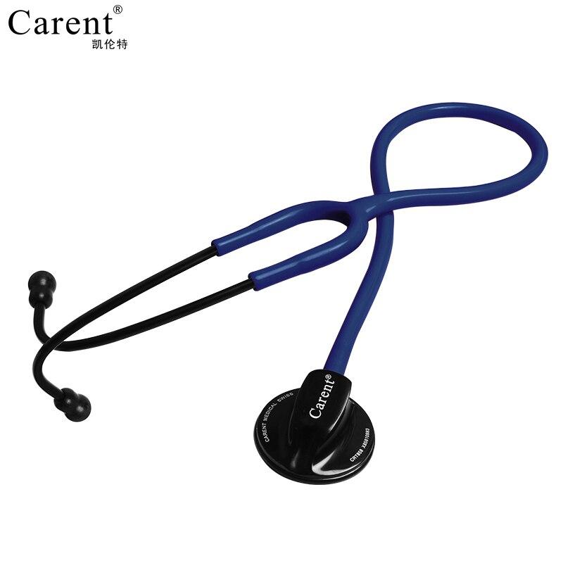 Estetoscópio profissional carent duplo silverback médico de aço inoxidável estetoscópio para médico enfermeira para ouvir fetal freqüência cardíaca