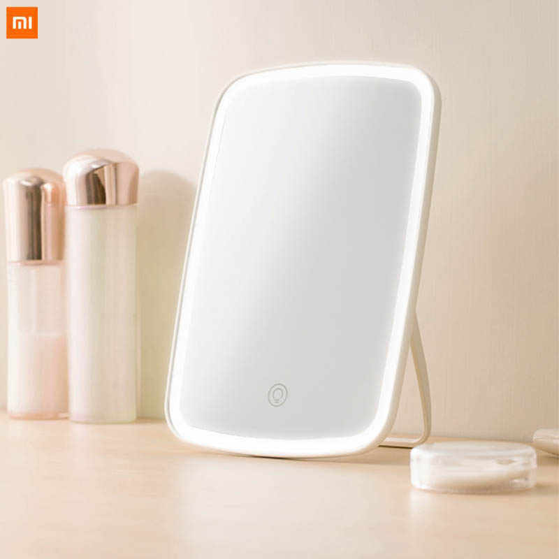 New Original xiaomi Mijia Intelligent portable makeup mirror desktop led light portable folding light mirror dormitory desktop