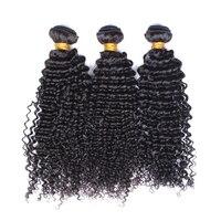 Бразильский странный вьющиеся волосы девственницы утка 3 шт. человеческих волос Weave Связки Natural Цвет 100% Пряди человеческих волос для наращив