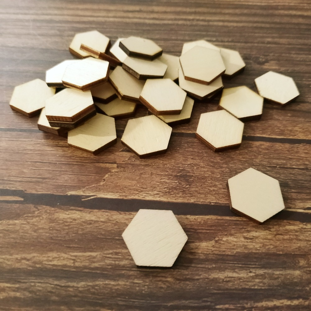 US $3 66 |100x Honeycomb Hexagon Wooden Cutout Shape Silhouette Gift Tags  Ornaments Decoration Laser Cut Unfinished Wood Confetti-in Wood DIY Crafts