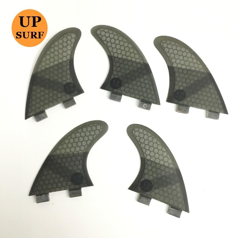 цена на Upsurf Logo FCS K2.1 Surf Fins Fiberglass Honeycomb Fibre Surfboard Fin 5 in Per Set