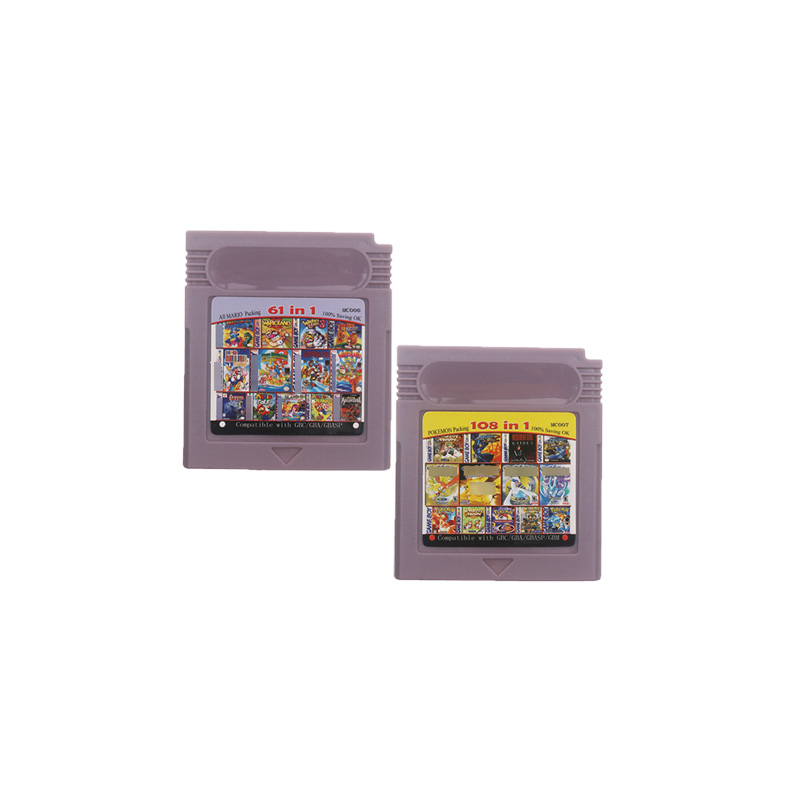 16 Bit Handheld Console Video Game Cartridge Card 108in1 /61in1 Compilations English Language Version
