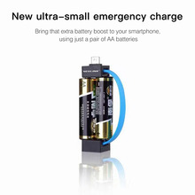 Mini Portable Micro USB Charger 2 AA Battery for Samsung HTC Huawei Android Phone